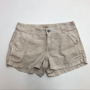 J.Crew Factory Tan Linen Blend Shorts Size 2